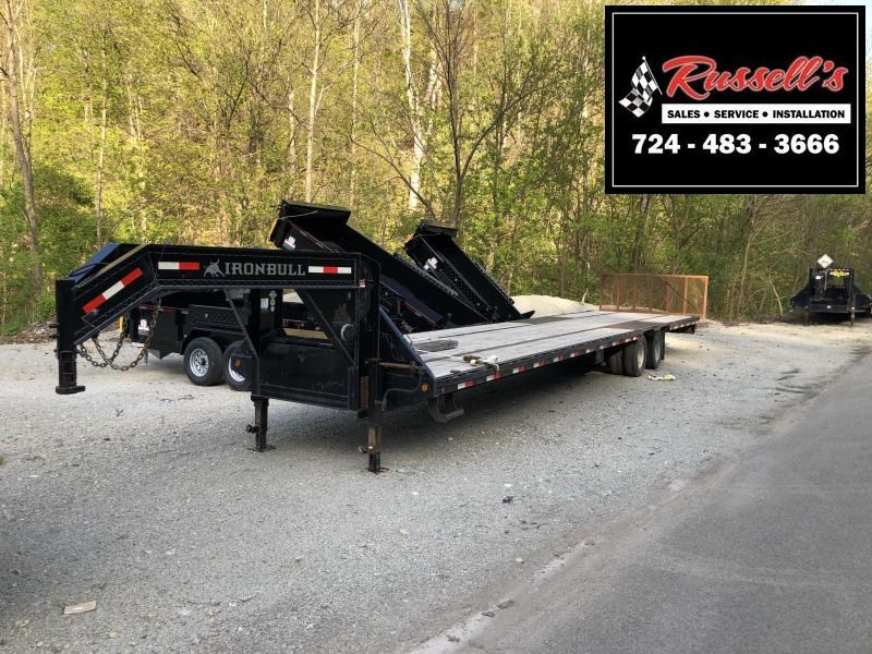 2018 Iron Bull FLG - 24k Gooseneck Low-Pro Flatbed Trailer