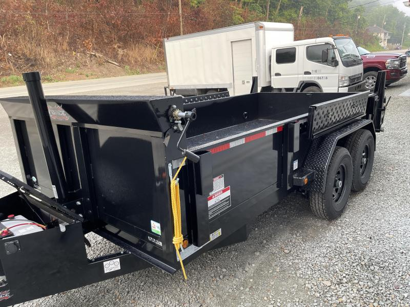 2021 Forest River 7x14 14000 GVW Dump Trailer Telescopic Hoist