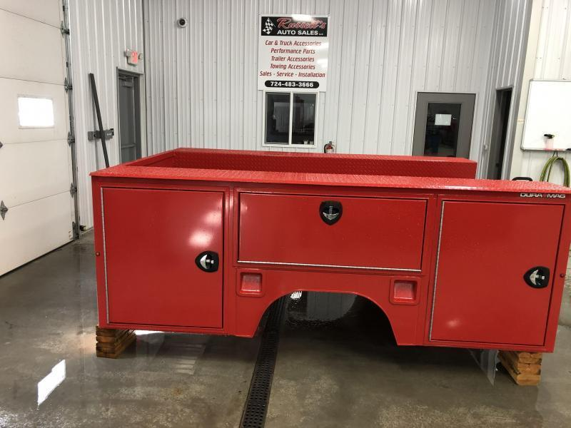 """DuraMag S-Series Aluminum Service Body 60""""ca Cab and Chassis SRW Red"""