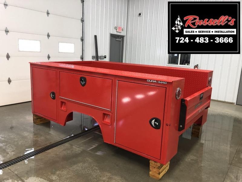 "DuraMag S-Series Aluminum Service Body 60""ca Cab and Chassis SRW Red"