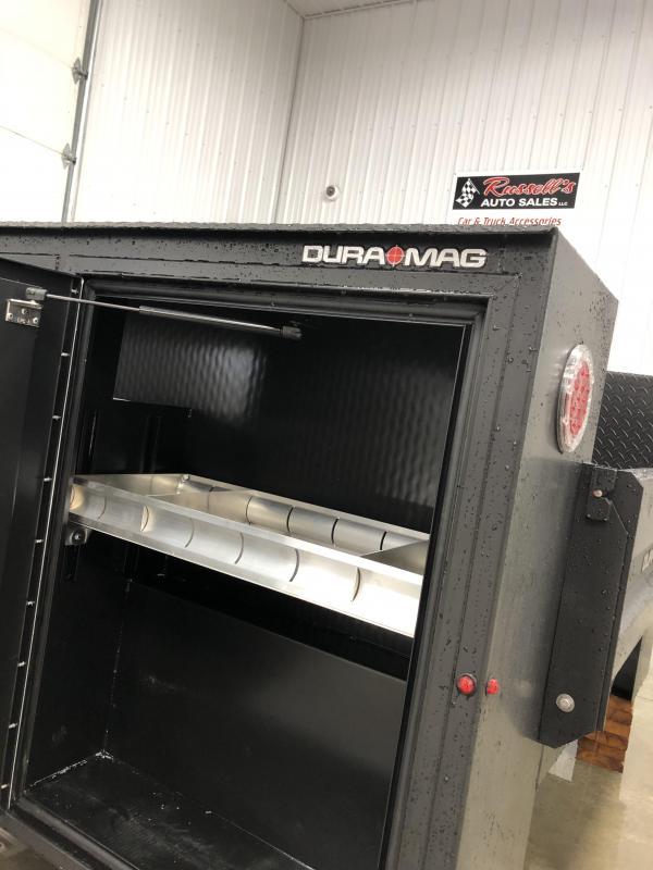 "DuraMag S-Series Aluminum Service Body 60""ca Cab and Chassis SRW Black"