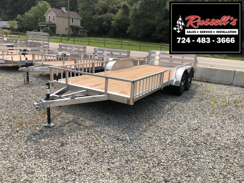 2021 Stealth Trailers 7x18 Phantom II tandem axle aluminum Utility Trailer