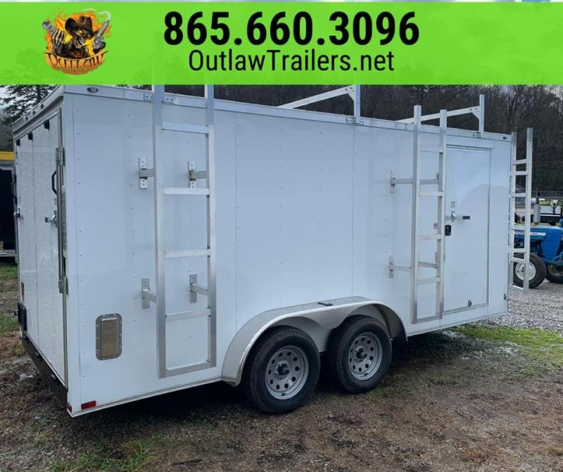 New 2020 Outlaw 7 X 16 7K Enclosed Trailer - Construction Edition
