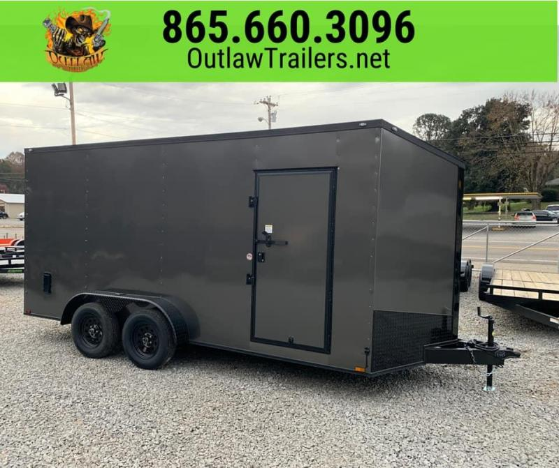 New 2020 Outlaw 7 X 16 Tandem Axle Enclosed Trailer 7K