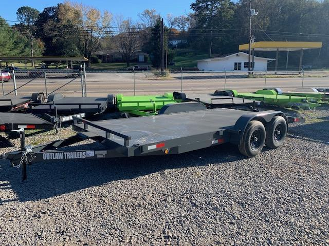"2021 Outlaw Trailers 83"" x 18' Steel Floor Car Hauler- 7000 GVWR Car / Racing Trailer"