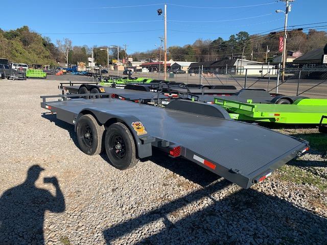 "2021 Outlaw Trailers 83"" x 18' Steel Floor Car Hauler- 7000 GVWR Car / Racing Trailer"
