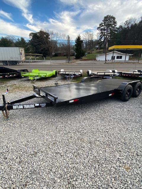 "2021 Outlaw Trailers 83"" x 18' Steel Floor Car Hauler"