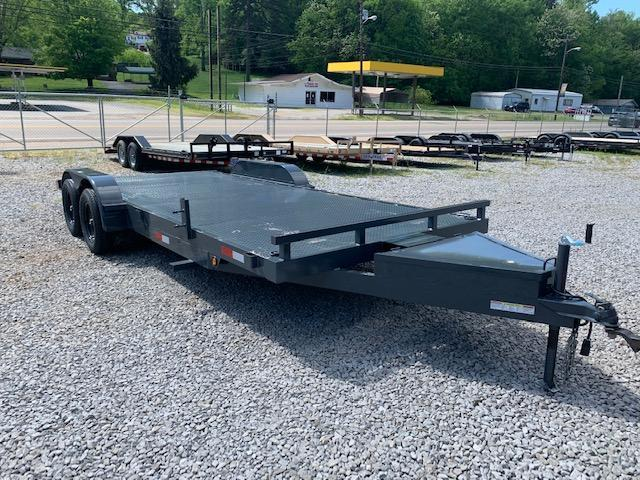 2020 Outlaw Trailers 20' Steel Floor Car Hauler- W/ Tongue Box Car / Racing Trailer