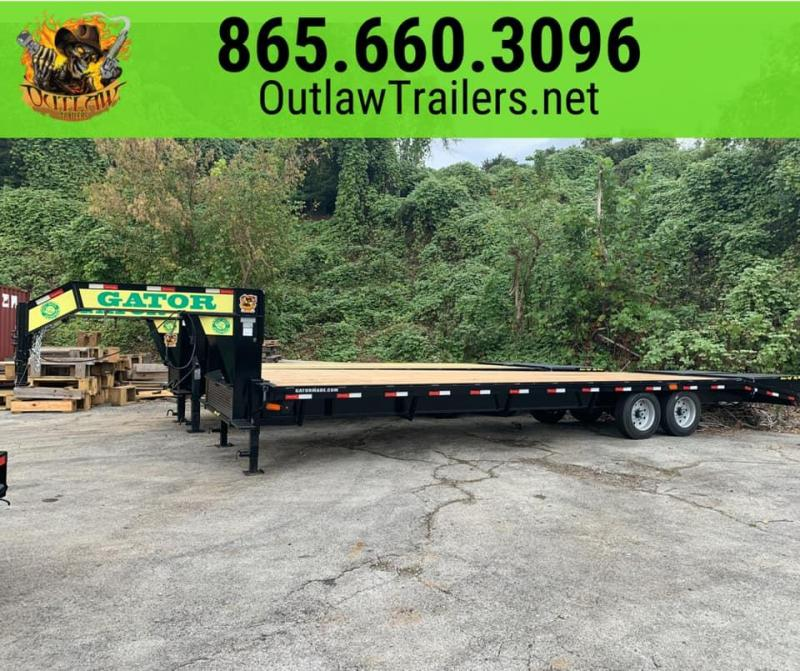 New 2020 Gatormade 25'+5' Tandem Gooseneck Equipment Trailer w/ Mega Ramps