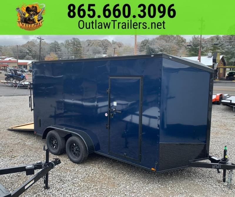 New 2020 Outlaw 7 X 14 Tandem Axle Enclosed Trailer 7K