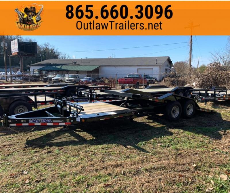 New 2020 Load Trail 22' 14K Drive Over Fender Hydraulic Cushion Tilt Trailer