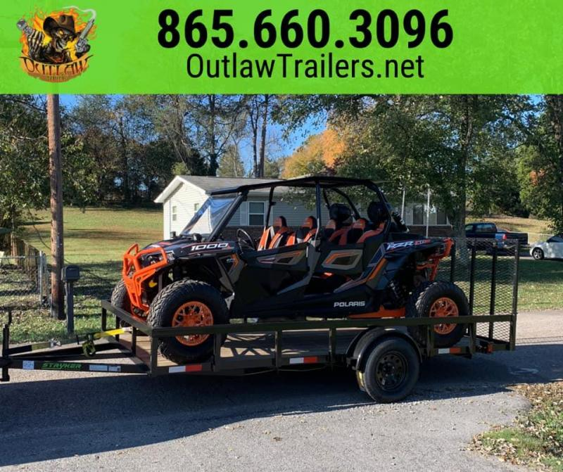 New 2020 Outlaw 7 x 14 Full Tube Utility/Side by Side/RZR Trailer