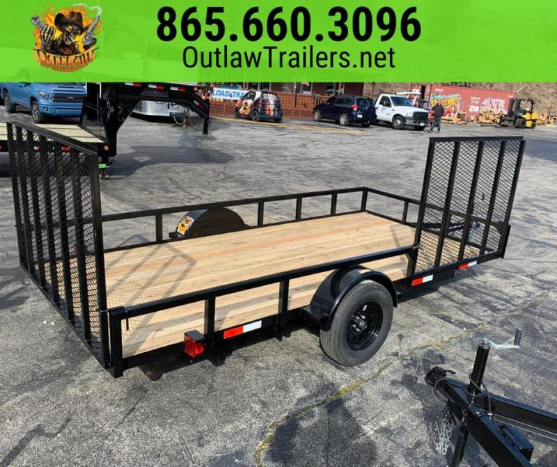 New 2020 Outlaw 6.4 x 14 Single Axle Utility Trailer w/ Side Gate