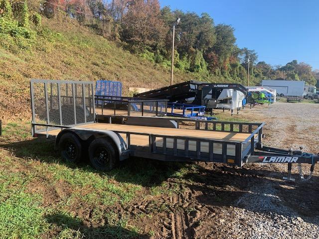 "2021 Lamar Trailers 83"" x 16' 7000 GVWR W/ side load Utility Trailer"