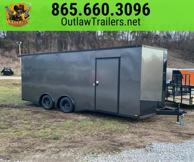 New 2020 Outlaw 8.5 x 20 Enclosed Trailer 7K