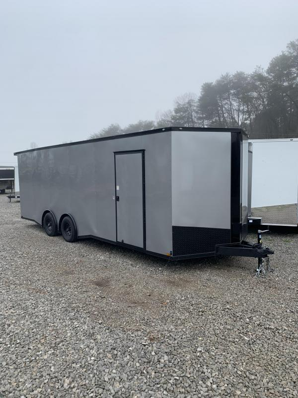 2020 Outlaw Trailers 8.5x24 Silver Frost with black trim Enclosed Cargo Trailer