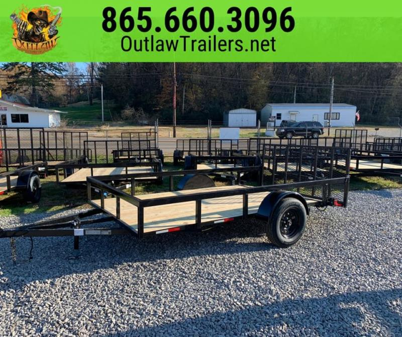 New 2020 Outlaw 6.4 x 12 Single Axle SXS Hauler / Utility Trailer
