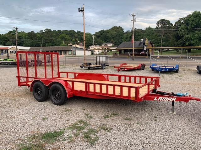 2020 Lamar Trailers 7' x 16' 7000 GVWR W/ removable side rails Utility Trailer