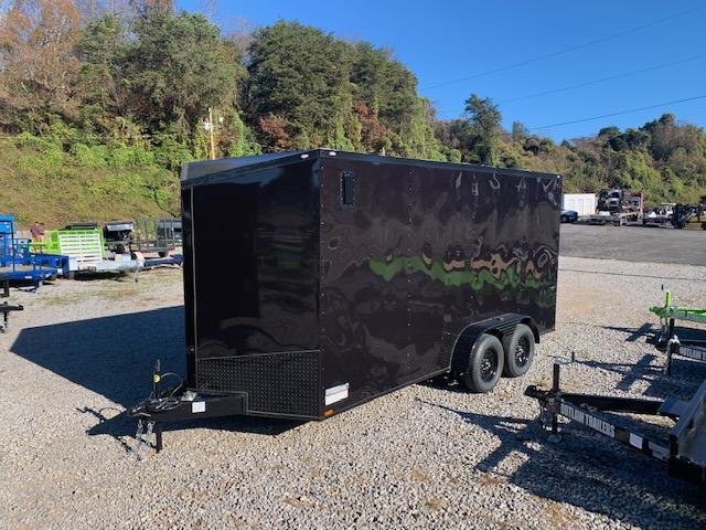 """2021 Outlaw Trailers 7' x 16' BLACK """"BLACKOUT"""" 7000 GVWR Enclosed Cargo Trailer"""