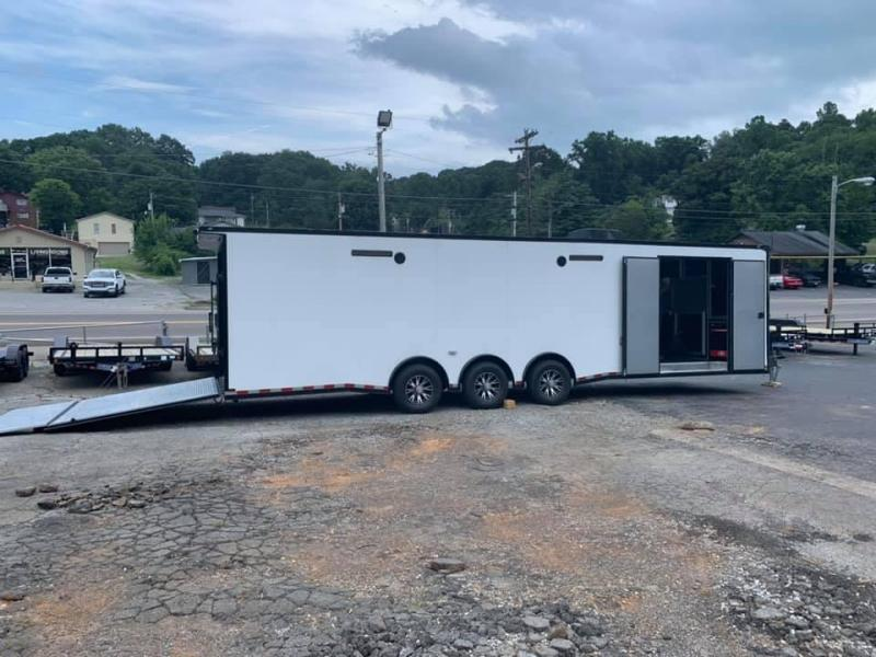 New 2020 Outlaw 32' Triple Axle Enclosed Race Trailer - LOADED