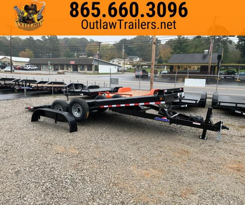 New 2020 Hawke Outlaw 20' 15K Full Hydraulic Tilt Trailer