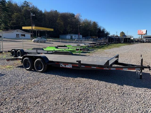 2021 Caliber Trailer Mfg 7' x 20' Steel Floor 7000 GVWR Car / Racing Trailer
