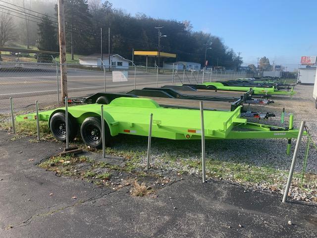 "2021 Outlaw Trailers 82"" x 18' Steel Floor Car Hauler- 10000 GVWR Car / Racing Trailer"