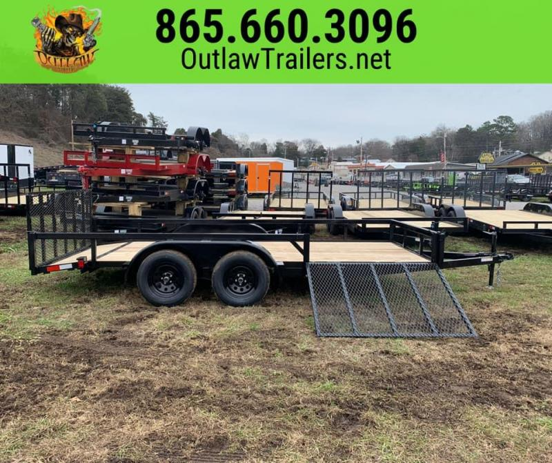 New 2020 Outlaw 7 X 16 7K Utility Trailer