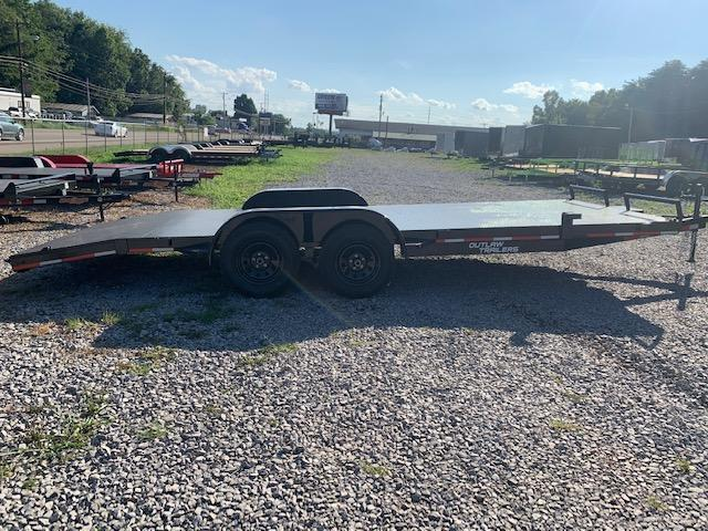 "2020 Outlaw Trailers 83"" x 20' Steel Floor Car Hauler 7000 GVWR Car / Racing Trailer"