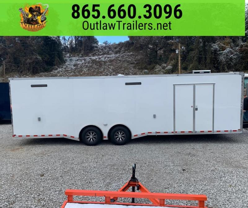 New 2020 Outlaw 30' Enclosed Race Trailer 14K - Outlaw Big Package