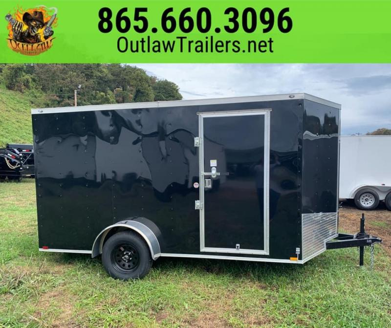 New 2020 Outlaw 7 X 12 Single Axle Enclosed Trailer