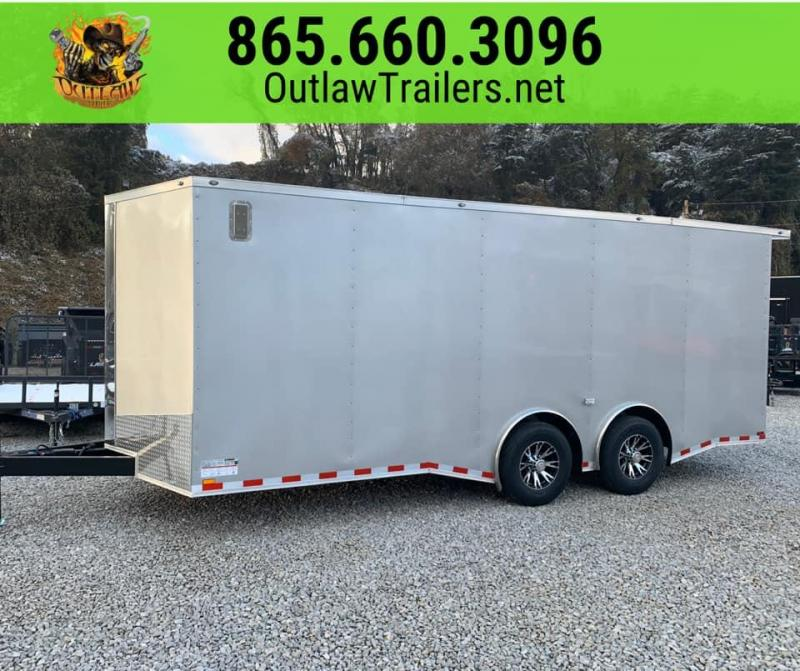 New 2020 Outlaw 8.5 x 20 Enclosed Trailer 14K
