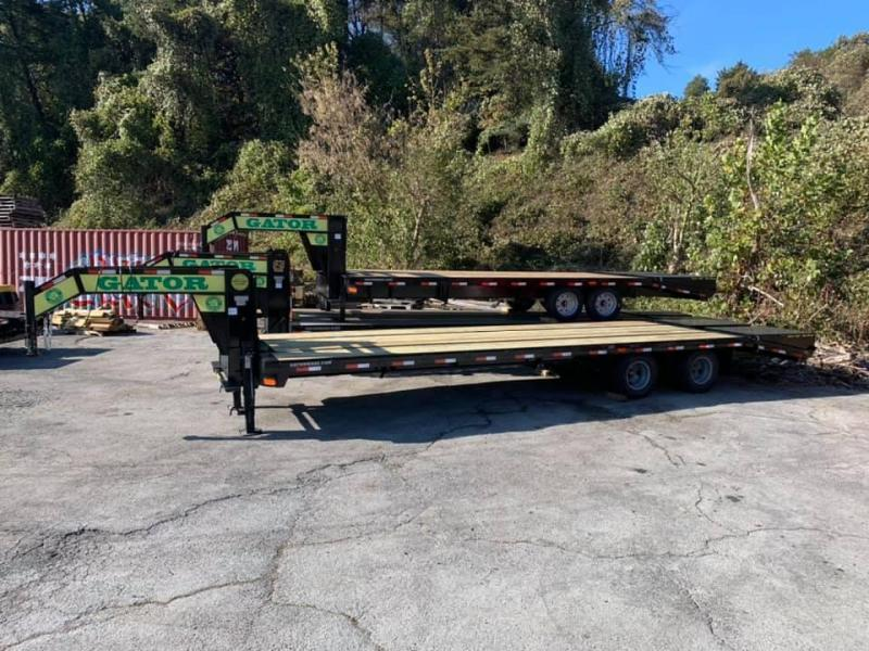 New 2021 Gatormade 25'+5' Dual Tandem Gooseneck Equipment Trailer 24.9K