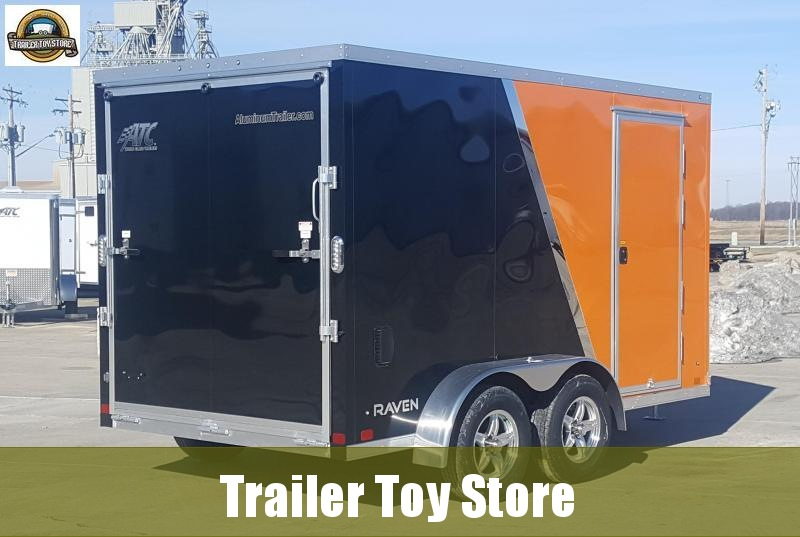 2019 ATC 7' X 12' Raven Motorcycle Trailer