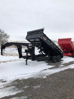 "2020 H and H Trailers 83""x16' Gooseneck Dump Box Trailer"