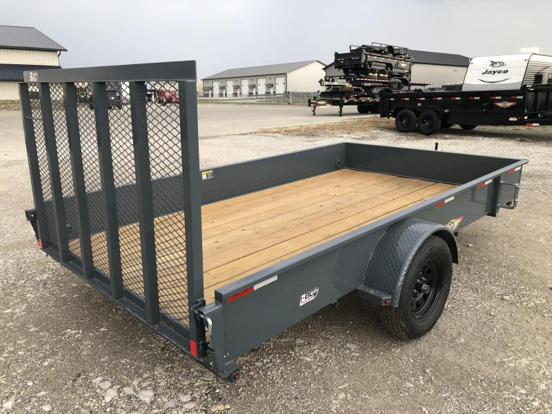 2022 H&H Trailers Gray 82x12 3K Solid Side Utility Trailer