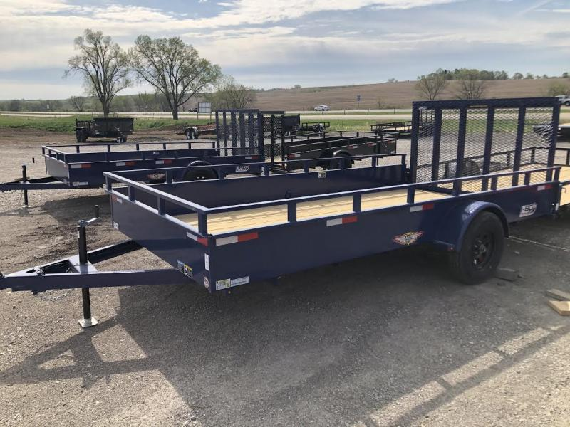 2021 H&H 76X12 Single Axle Solid Side Utility Trailer