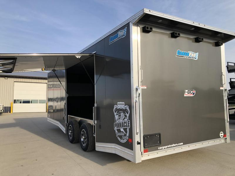 2021 CargoPro Trailers Charcoal 8.5'x24' Tandem Axle Flat Top Flat Nose Enclosed Cargo Trailer