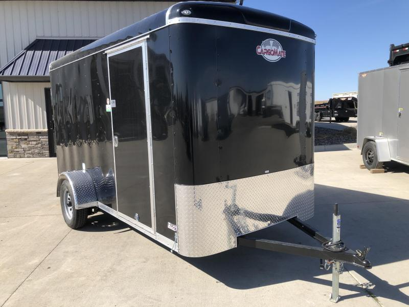 2021 Cargo Mate 6X12 BLACK ENCLOSED CARGO TRAILER Enclosed Cargo Trailer