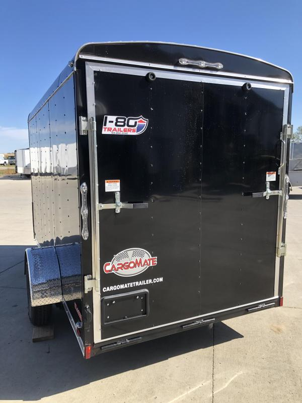 2021 Cargo Mate 6X12 BLACK ENCLOSED CARGO TRAILER Enclosed Cargo Trailer
