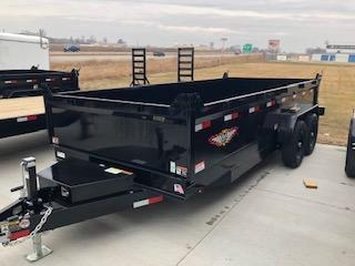 2021 H&H BLACK 83X16 TANDEM AXLE INDUSTRIAL DUMP TRAILER