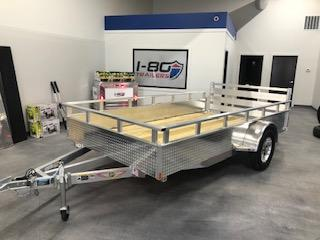 """2020 H and H Trailers 82""""x12' Aluminum 3.5k Axle Utility Solid Side Trailer"""