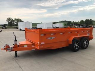 2021 H&H ORANGE 83X14 TANDEM AXLE INDUSTRIAL DUMP TRAILER