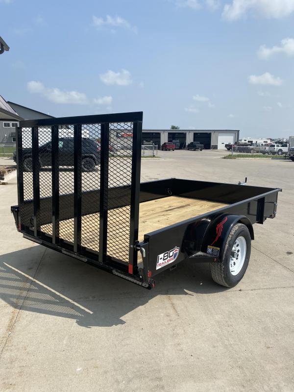 2021 Trailerman Black 76x10 3K Solid Side Utility Trailer