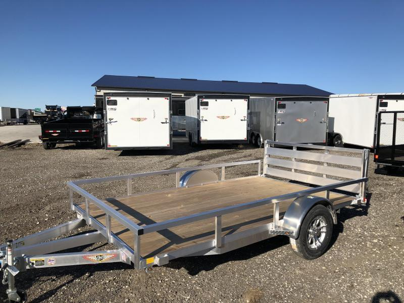 2021 H AND H ALUMINUM 8x12 UTILITY RAIL SIDE SINGLE AXLE