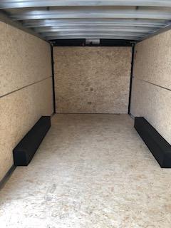 2021 H&H Black 8.5x20 Tandem Flat Top V-Nose Enclosed Cargo Trailer