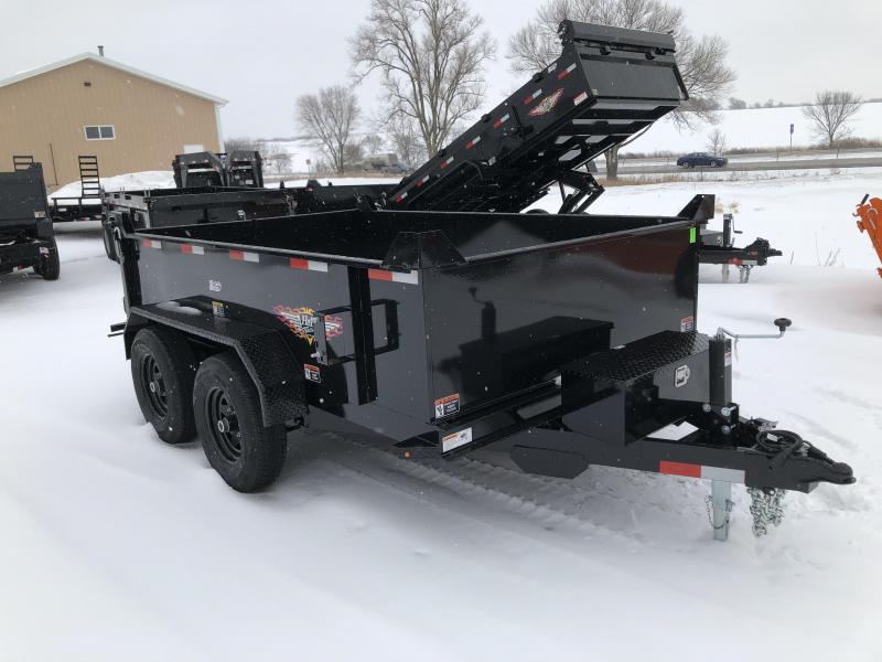 2021 H&H BLACK 76X12 TANDEM UTILITY DUMP TRAILER *I-80 SPECIAL*