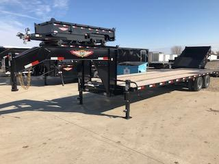 2020 H&H BLACK 30+5 GOOSENECK LOW PRO 20K DECKOVER SUPER DELUXE TRAILER