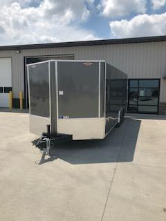 "2020 H and H Trailers 101""x 20' Charcoal Cargo 3.5k Axles Enclosed V-Nose Trailer"
