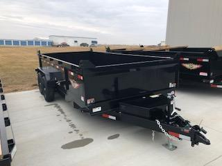 "2021 H and H Trailers 83""x16' Black 7k Axles Dump Box Trailer"